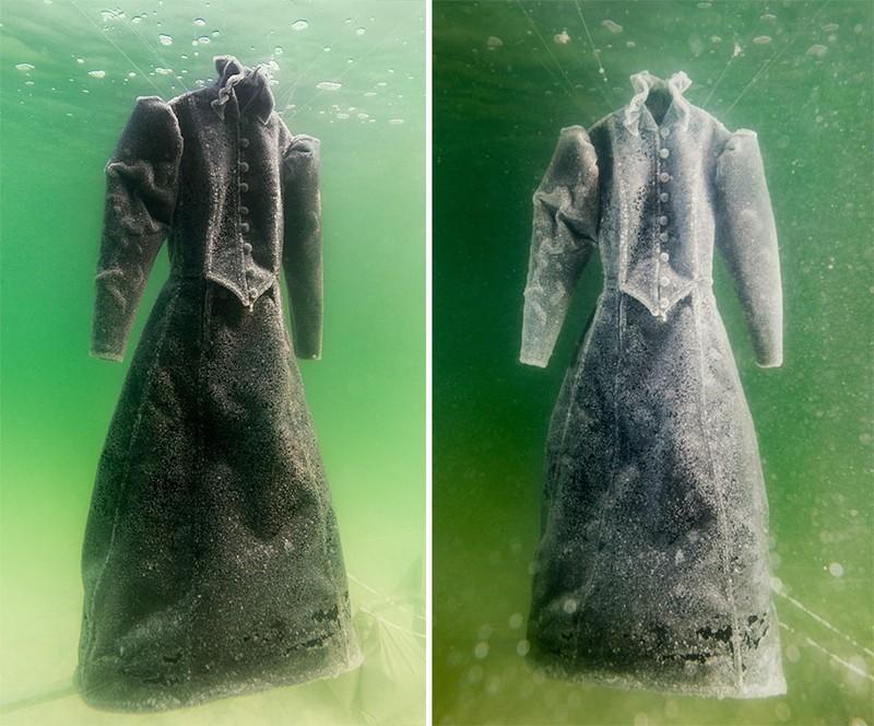 Điều gì xảy ra khi nhúng chiếc đầm xuống biển Chết trong 2 năm - ảnh 2