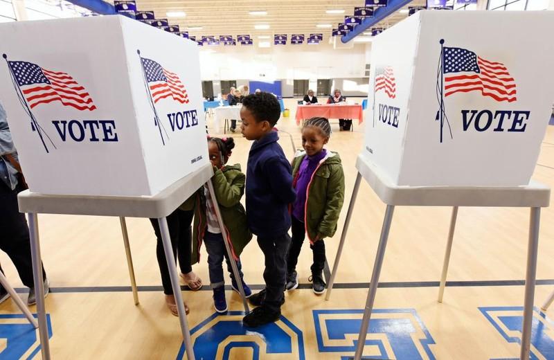 Không khí bầu cử Mỹ qua ảnh - ảnh 5
