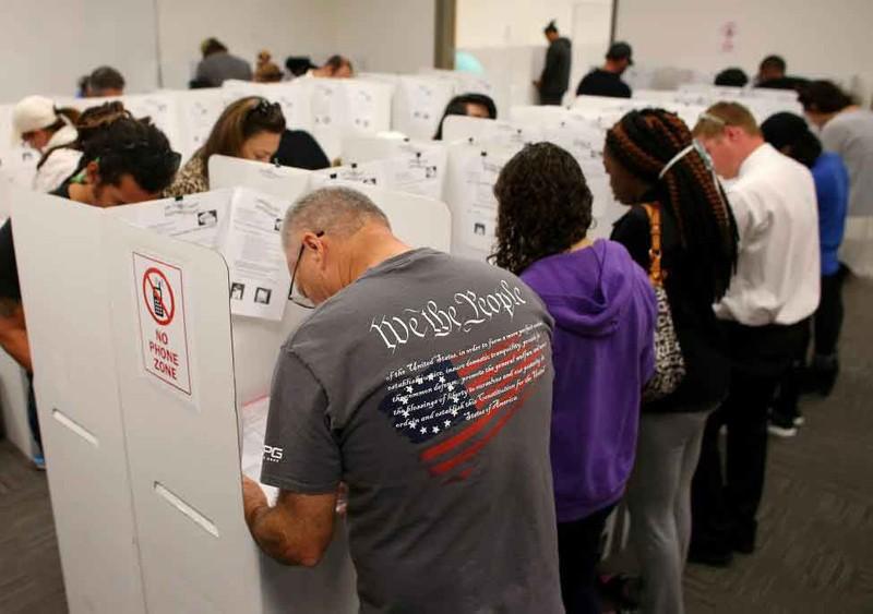 Không khí bầu cử Mỹ qua ảnh - ảnh 9