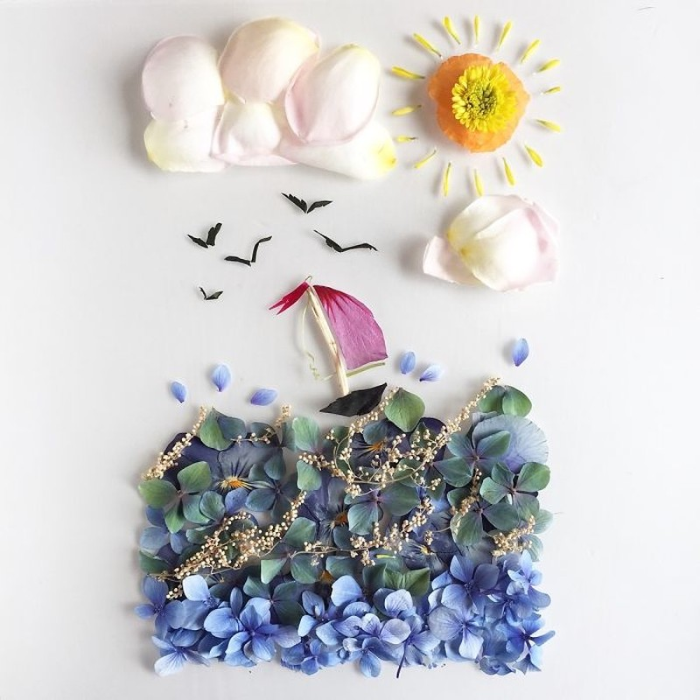 Người phụ nữ biến những cánh hoa thành tranh nghệ thuật - ảnh 7