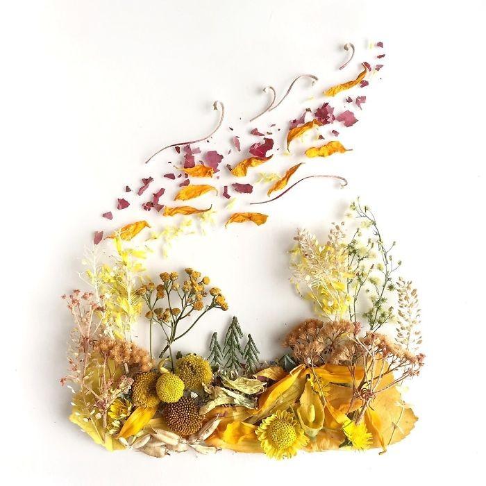 Người phụ nữ biến những cánh hoa thành tranh nghệ thuật - ảnh 8