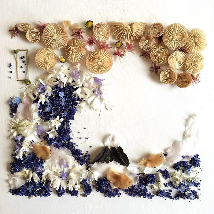 Người phụ nữ biến những cánh hoa thành tranh nghệ thuật - ảnh 10