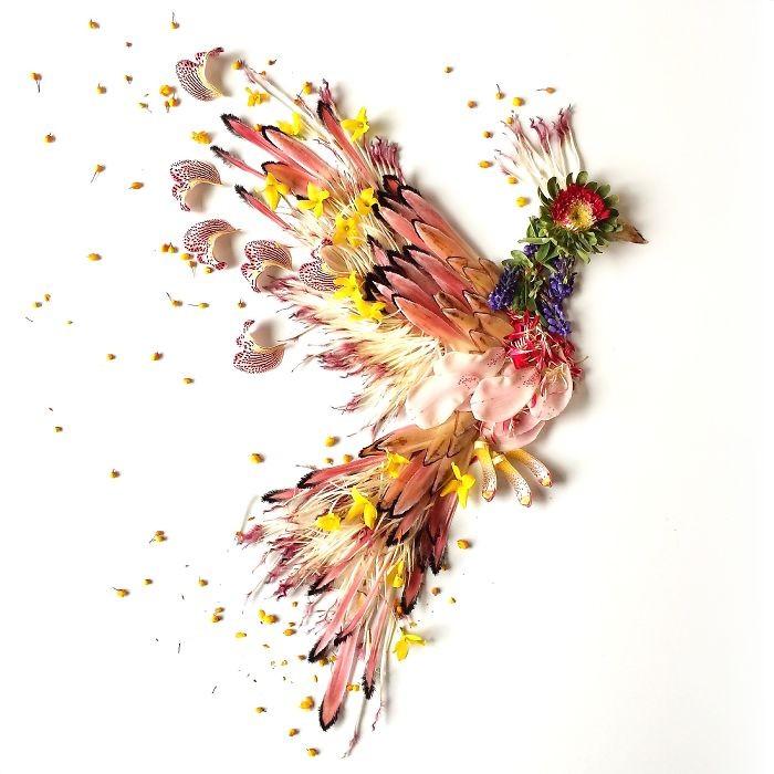 Người phụ nữ biến những cánh hoa thành tranh nghệ thuật - ảnh 11