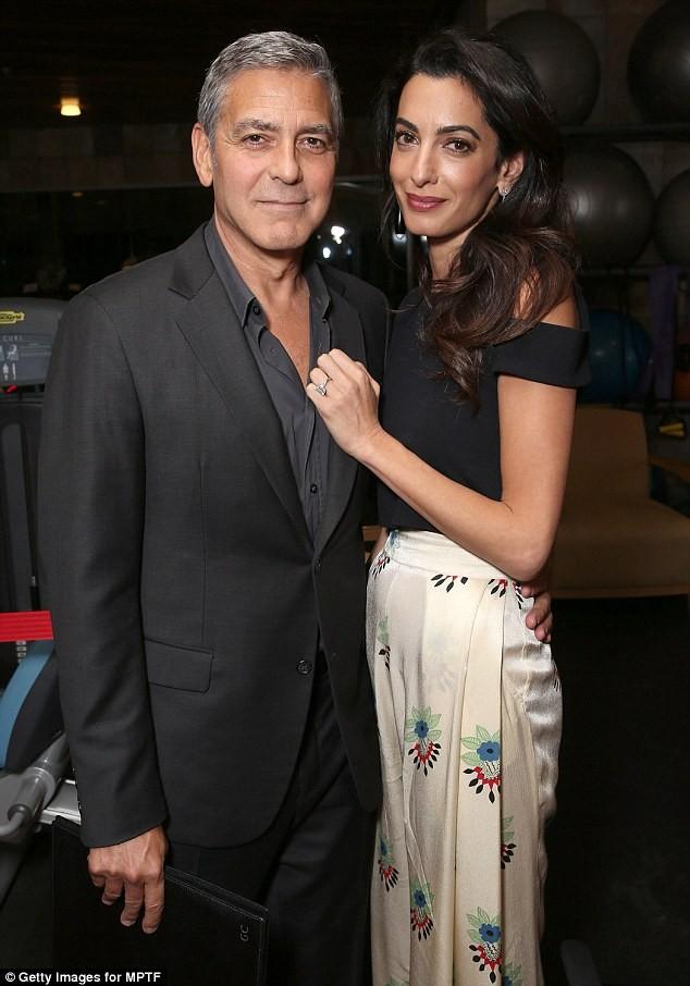 Vợ George Clooney mang song thai ở tuổi 39  - ảnh 1
