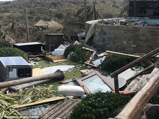 Nhà tỷ phú Richard Branson tan hoang sau bão Irma - ảnh 2