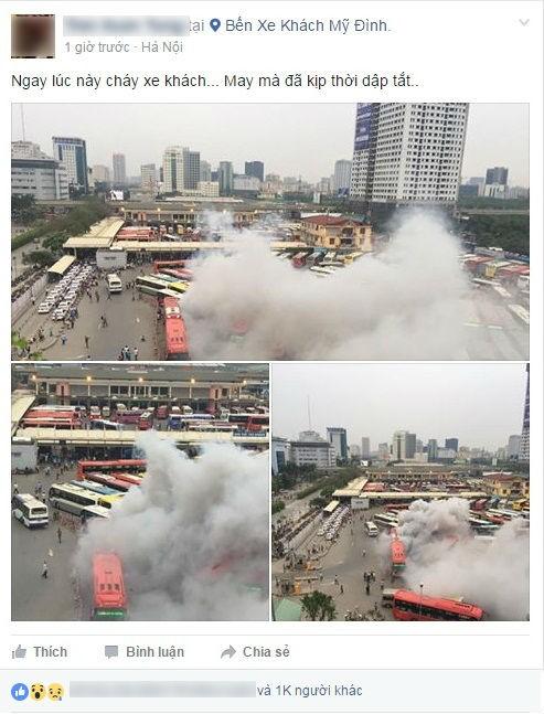 Thông tin xe khách bốc cháy tại Bến xe Mỹ Đình là thất thiệt - ảnh 1