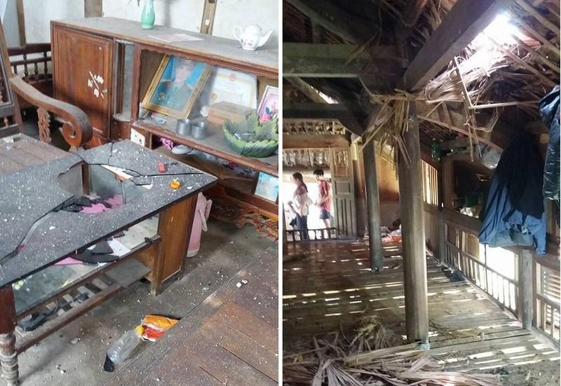 Nổ mìn khai thác đá khiến 4 người nhập viện, nhiều ngôi nhà thủng mái  - ảnh 1
