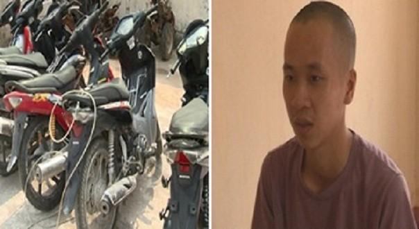 Bắt 'siêu' đạo chích một mình trộm 7 xe máy - ảnh 1