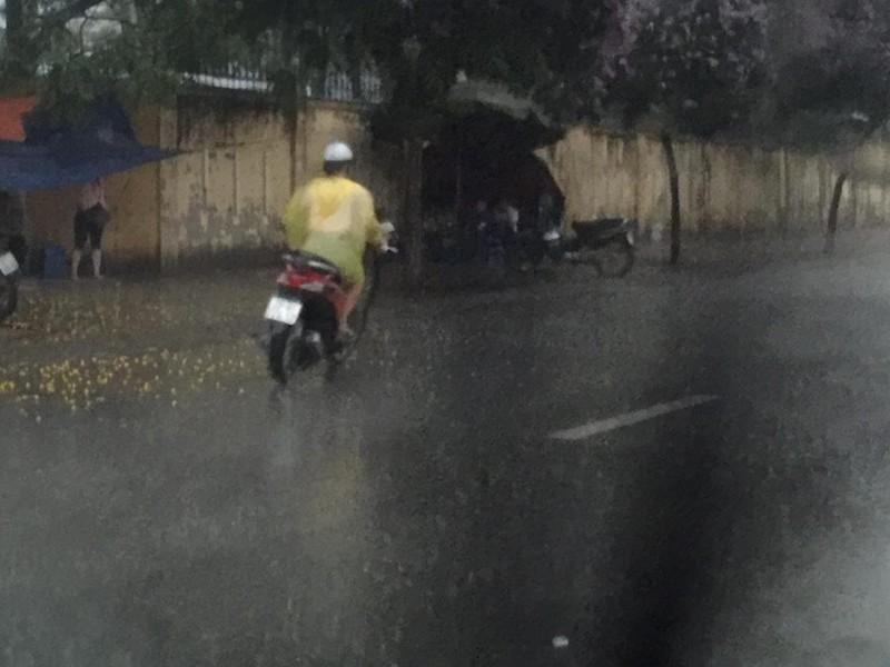 'Phát sốt' với cô gái dừng xe giữa trời mưa lớn mặc áo mưa cho cụ già - ảnh 5