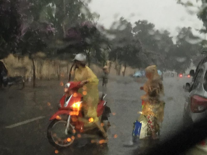 'Phát sốt' với cô gái dừng xe giữa trời mưa lớn mặc áo mưa cho cụ già - ảnh 4