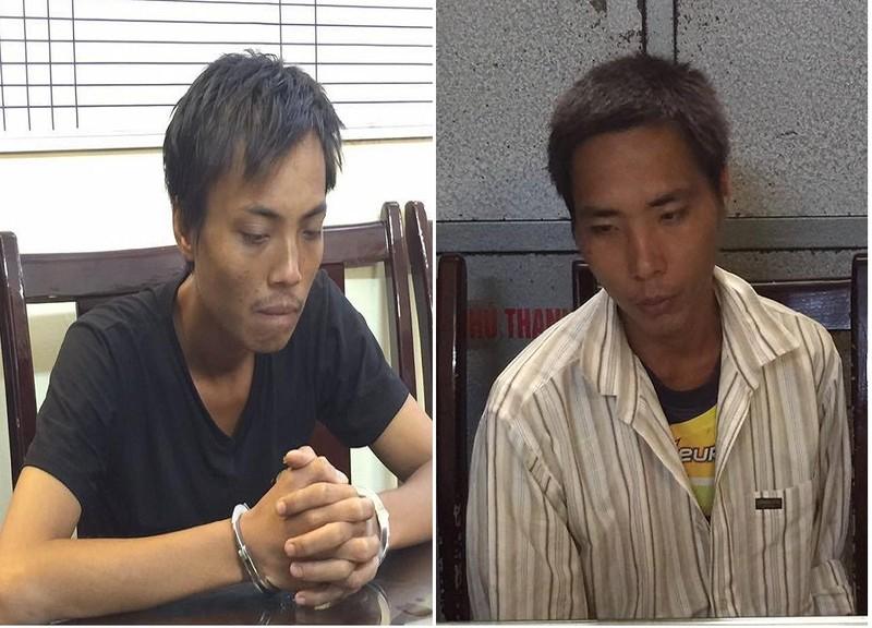 2 kẻ nghiện ngập dùng kéo đâm phụ nữ, cướp tài sản - ảnh 1