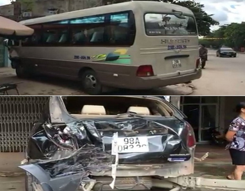 Cậu bé 13 tuổi lái trộm xe 29 chỗ gây tai nạn liên hoàn - ảnh 1