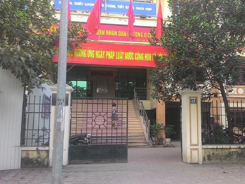 Trụ sở UBND phường Ô Chợ Dừa