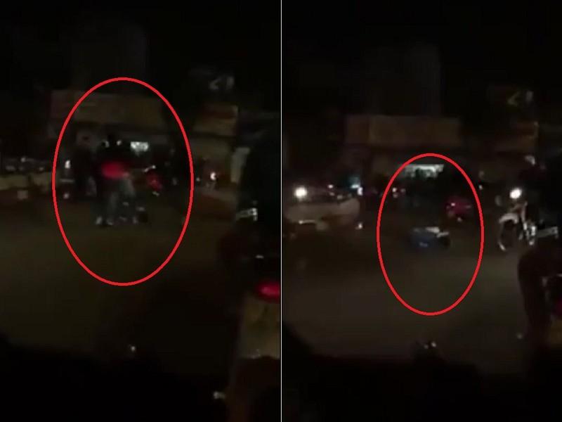 Sau va chạm, tài xế ô tô đánh gục người chạy xe máy - ảnh 1