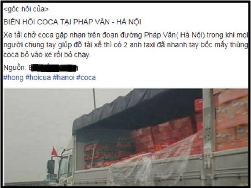 Công an xác minh vụ hôi của trên đường ở Hà Nội - ảnh 1
