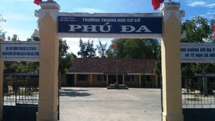 Trường THCS Phú Đa (Phú Vang, TT-Huế) - nơi xảy ra vụ bạo hành học sinh.