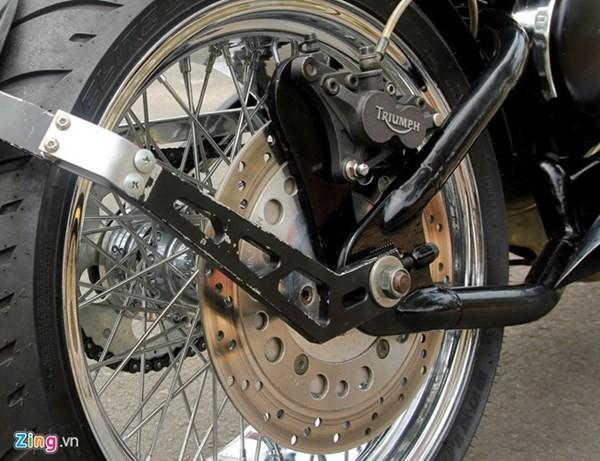 Sửng sốt với môtô tự chế 'cực độc' của thợ xe Sài Gòn - ảnh 11