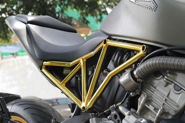 Tận thấy Honda Hornet 600 mạ vàng 24k ở Việt Nam - ảnh 7