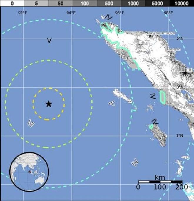Xảy ra trận động đất mạnh 6,1 độ Richter tại đảo Sumatra - ảnh 1