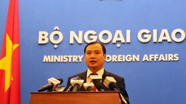 Ông Lê Hải Bình, người phát ngôn Bộ Ngoại giao Việt Nam - Ảnh: VIỆT DŨNG
