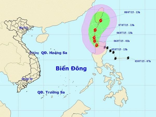 Bão Linfa vào gần đảo Đài Loan, Bắc Biển Đông sẽ có mưa dông mạnh - ảnh 1