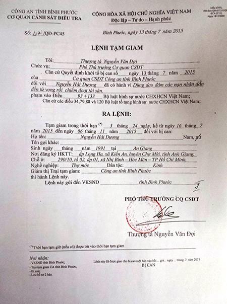 Thảm sát Bình Phước: VKS đã phê chuẩn quyết định khởi tố 2nghi can - ảnh 3