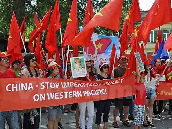 Người Việt tại Đức biểu tình phản đối Trung Quốc xây đảo trái phép - ảnh 3