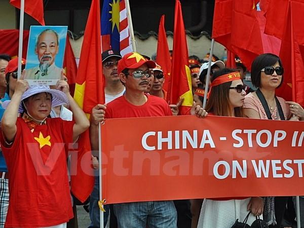 Người Việt tại Đức biểu tình phản đối Trung Quốc xây đảo trái phép - ảnh 4