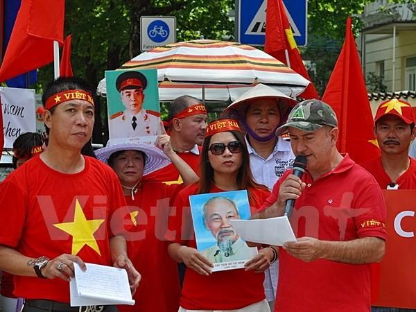 Người Việt tại Đức biểu tình phản đối Trung Quốc xây đảo trái phép - ảnh 5