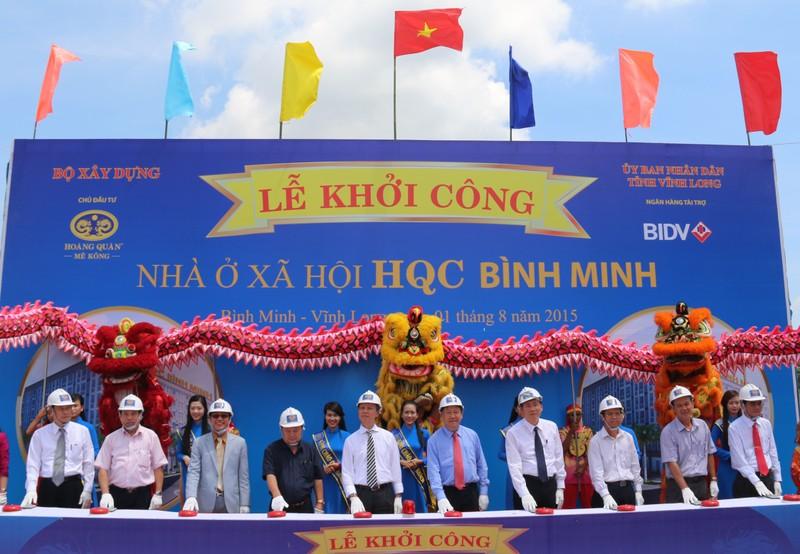 Vĩnh Long: Khởi công dự án nhà ở xã hội quy mô lớn nhất ĐBSCL    - ảnh 1