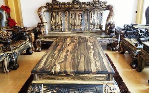 Bộ bàn ghế gỗ sưa trăm tỷ đắt nhất Việt Nam - ảnh 10