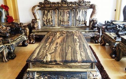 Bộ bàn ghế gỗ sưa trăm tỷ đắt nhất Việt Nam - ảnh 5