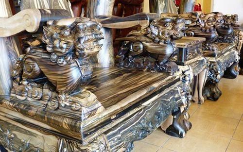 Bộ bàn ghế gỗ sưa trăm tỷ đắt nhất Việt Nam - ảnh 7