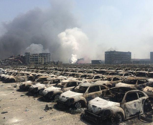 Hơn 8000 xe hơi bị phá huỷ trong vụ nổ tại Thiên Tân là của hãng nào?  - ảnh 1