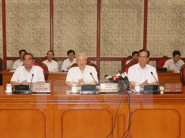 Bộ Chính trị cho ý kiến về việc chuẩn bị Đại hội Đảng bộ Công an  - ảnh 1