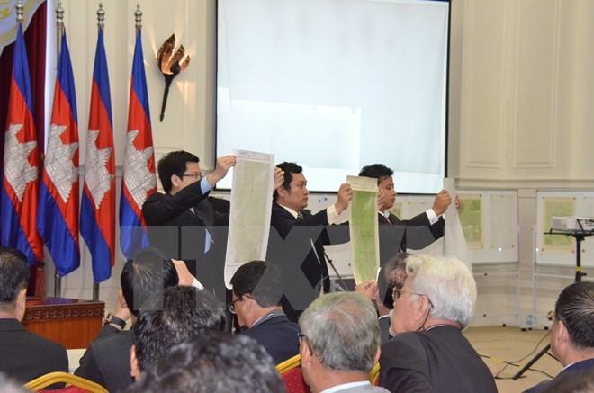 Thủ tướng Campuchia thách thức CNRP về vấn đề bản đồ biên giới - ảnh 1
