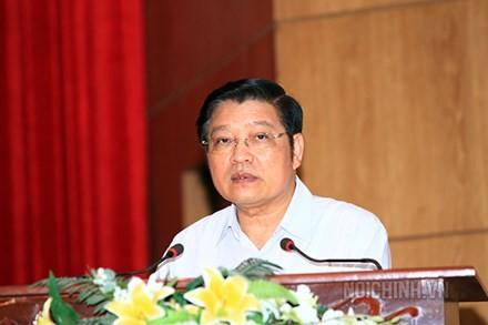 Đồng chí Phan Đình Trạc, Ủy viên Trung ương Đảng, Phó Trưởng ban Thường trực Ban Nội chính Trung ương. Ảnh: Noichinh.vn