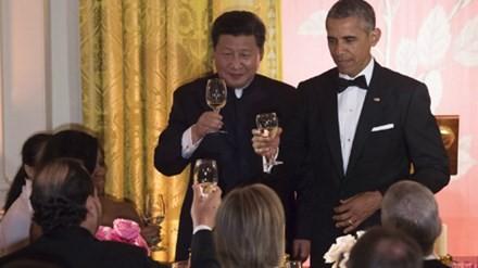 Nhà trắng tổ chức quốc yến thiết đãi ông Tập hôm 25/9. Ảnh: AFP.
