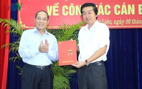 Nhân sự mới Ban Nội chính Trung ương, Tỉnh ủy Bạc Liêu - ảnh 1