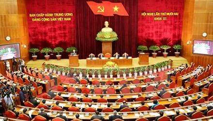 Quang cảnh hội nghị Trung ương Lần thứ 12 (khóa XI) tại Hà Nội. Ảnh: Thống Nhất.