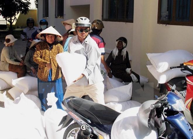 Ninh Thuận: Hơn 13.000 hộ dân được cấp phát gạo cứu đói - ảnh 1