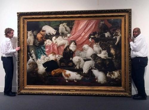 Choáng với bức tranh 'gia đình mèo quý tộc' giá gần 19 tỷ đồng - ảnh 1