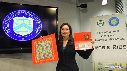 Mỹ ra mắt bộ sưu tập tiền 'lì xì may mắn' năm Bính Thân - ảnh 1