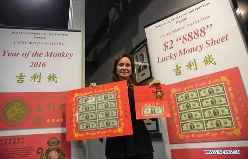 Mỹ ra mắt bộ sưu tập tiền 'lì xì may mắn' năm Bính Thân - ảnh 2