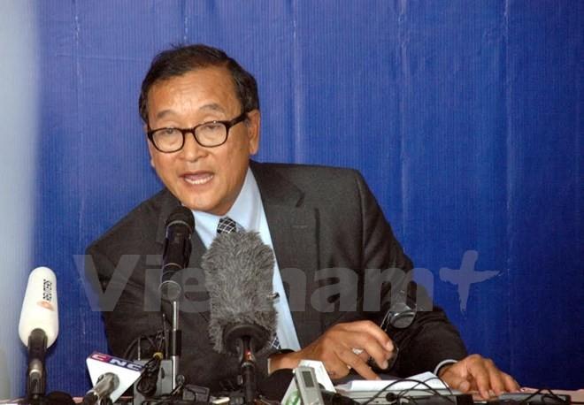 Tòa án triệu tập ông Sam Rainsy vì xúc phạm chủ tịch Quốc hội - ảnh 1