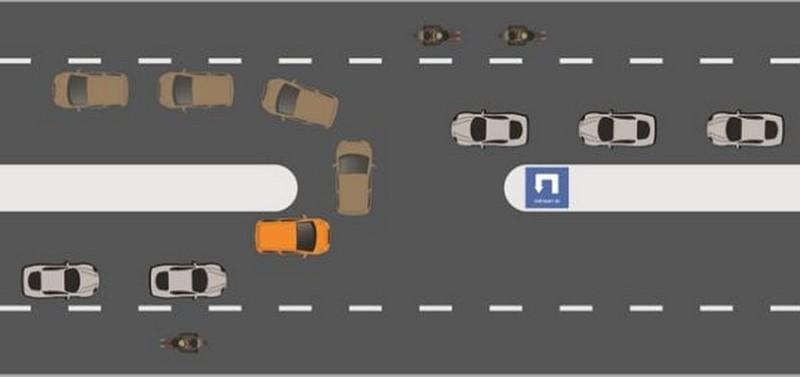 Kinh nghiệm quay đầu xe ô tô an toàn - ảnh 1