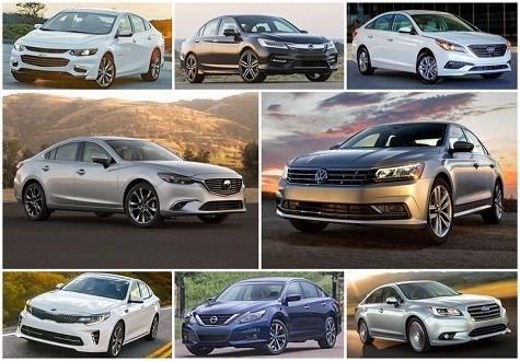 8 mẫu sedan hạng trung tiết kiệm nhiên liệu nhất năm 2016