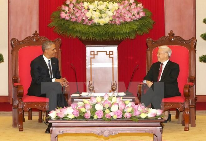 Tổng Bí thư Nguyễn Phú Trọng tiếp Tổng thống Hoa Kỳ Obama  - ảnh 2