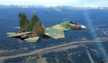 Các đơn vị đang nỗ lực tìm kiếm máy bay Su-30MK2 mất tích (ảnh minh họa)