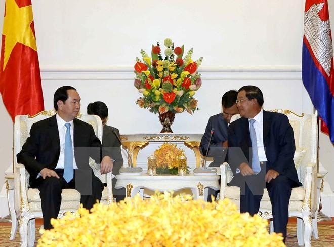 Chủ tịch nước và Thủ tướng Campuchia nhất trí nhiều vấn đề quan trọng - ảnh 1